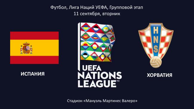 игра Испания Хорватия в Лиге Наций