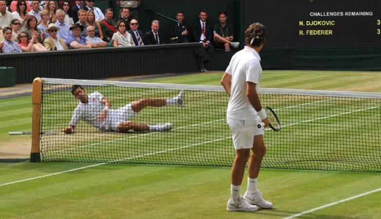Кадр из теннисного матча