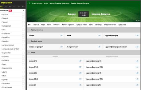 Основной вариант на ставку делая прогноз матча Бавария - Боруссия