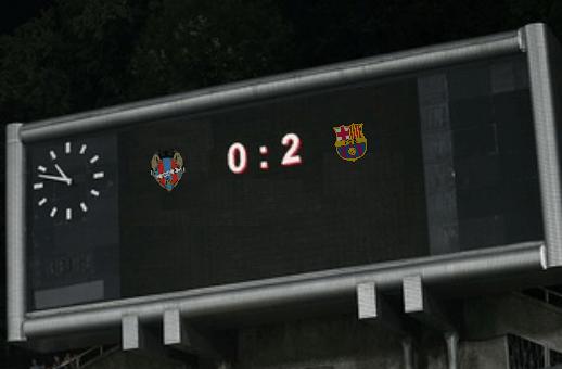 Например на матч Леванте-Барселона можно поставить отрицательную фору