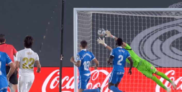 Кадр футбольного матча Реал – Хетафе июль 2020