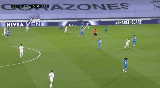 Кадр из матча Реал - Хетафе 03.07.2020 года