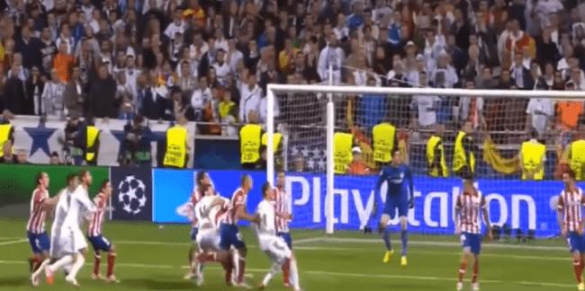 кадр из матча 2014 Финал! Реал Мадрид - Атлетико Мадрид