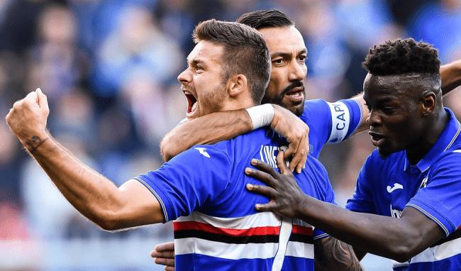 Команда Сампдория в лиге Италии серии А