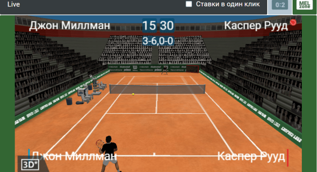 Ставки в лайве на теннис
