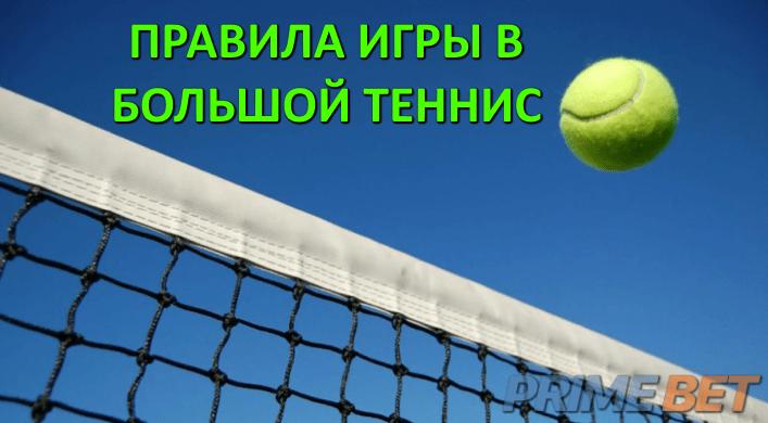 Понятия и правила игры в большой теннис